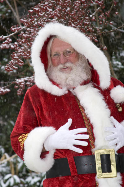 santa enjoys a december snow in southwest virginia return to santa ...